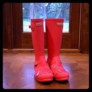 Hunter Kids Tex Fringe rain boots